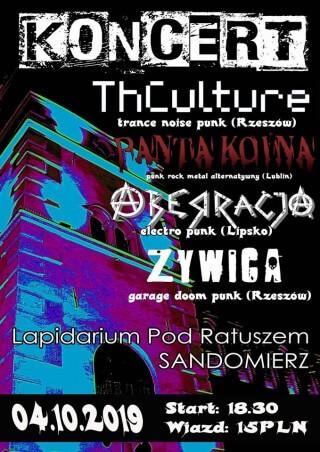 Koncert THCulture, Aberracja, Panta Koina, Żywica - Sandomierz - Lapidarium - 04.10.2019