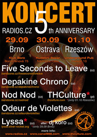 Concert THCulture on Radios.cz 5th Anniversary - Rzeszow 01.10.2011